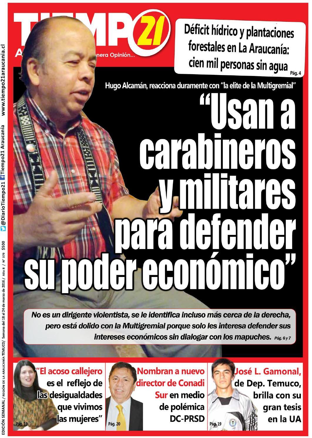 Ed 379 Hugo Alcam N A Multigremial Usan A Carabineros Y Militares  # Muebles Jouannet Temuco