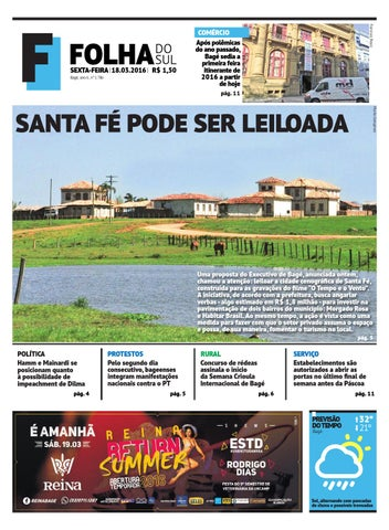 f3e819ddc Jornal Folha do Sul, 18 de março de 2016 by Folha do Sul Gaúcho - issuu