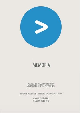 Memoria Plan Estratgico Mar Del Plata 2009 2016 Parte 1 De 2 By