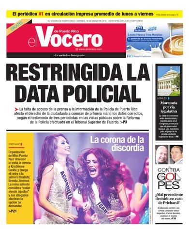 f8c72f9d5 Edición 18 de Marzo 2016 by El Vocero de Puerto Rico - issuu