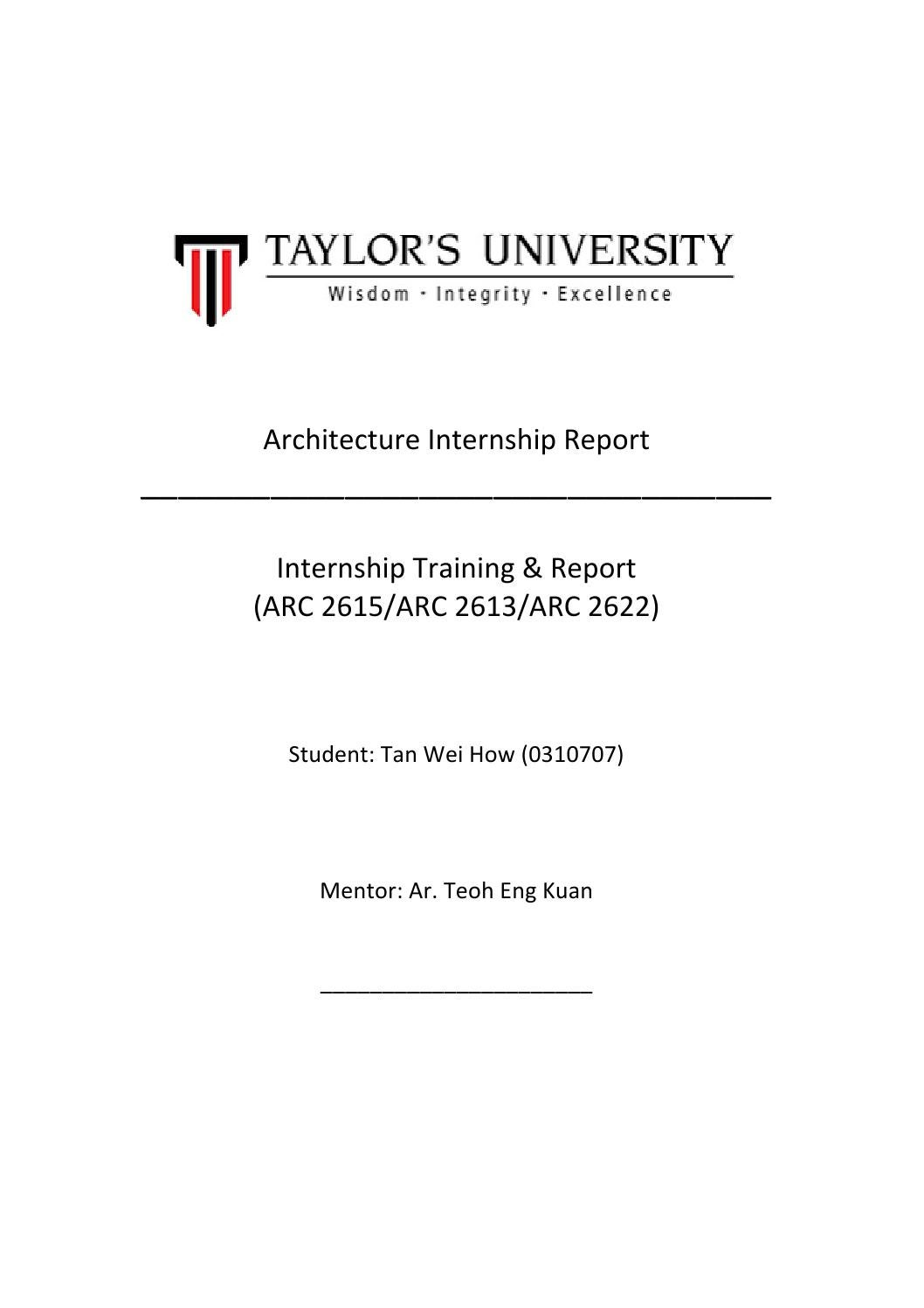 architecture internship report