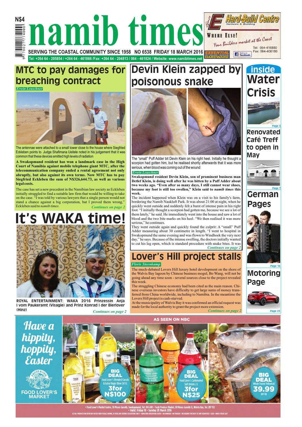 18 March Namib Times E Edition By Namib Times Virtual Issuu