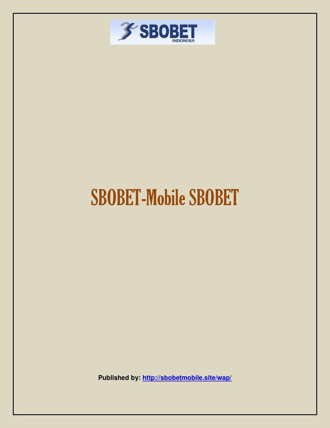 Sbobet Mobile Sbobet By Borealiscepheus Issuu