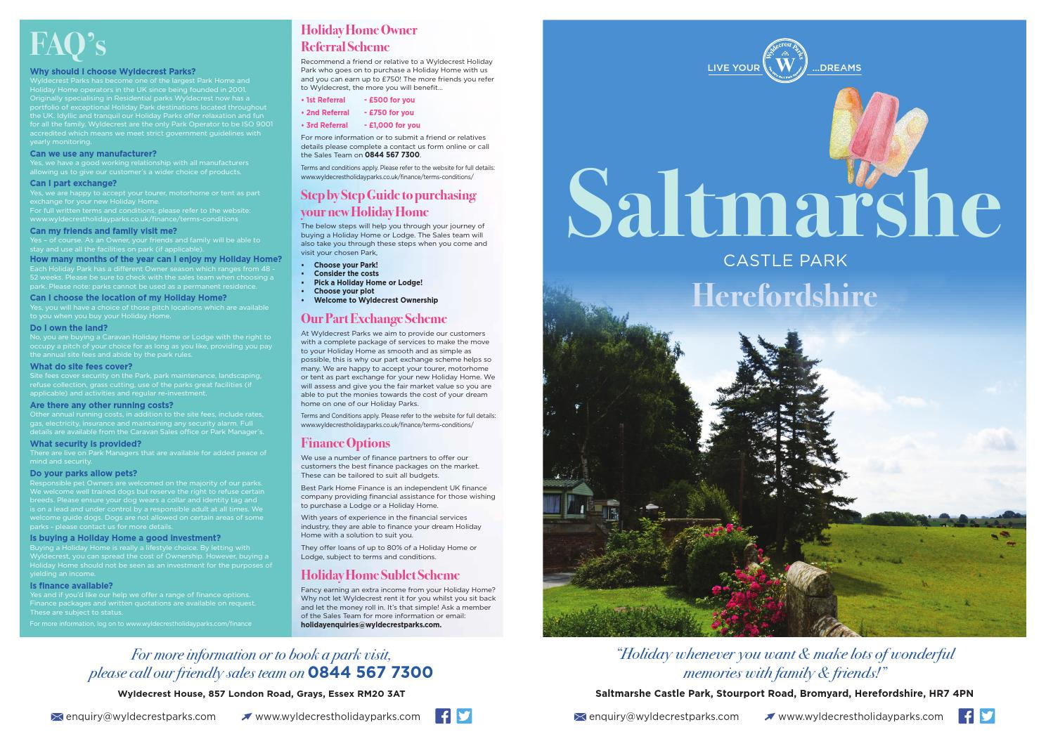 Saltmarshe Castle Park Brochure By Wyldecrest Parks