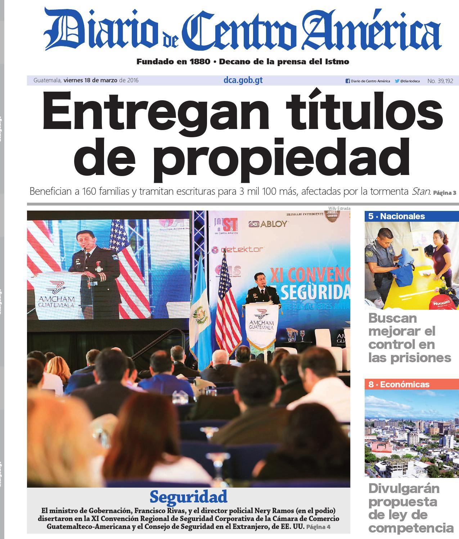 Dca 18032016 by Diario de Centro América Guatemala - issuu