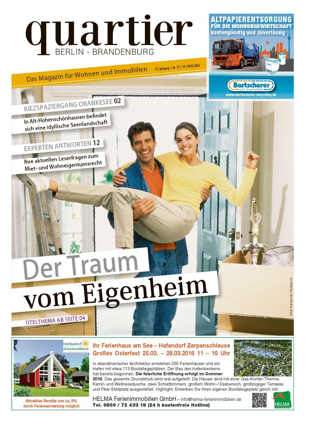 Quartier der traum vom eigenheim by berlin medien gmbh for Eigenheim berlin