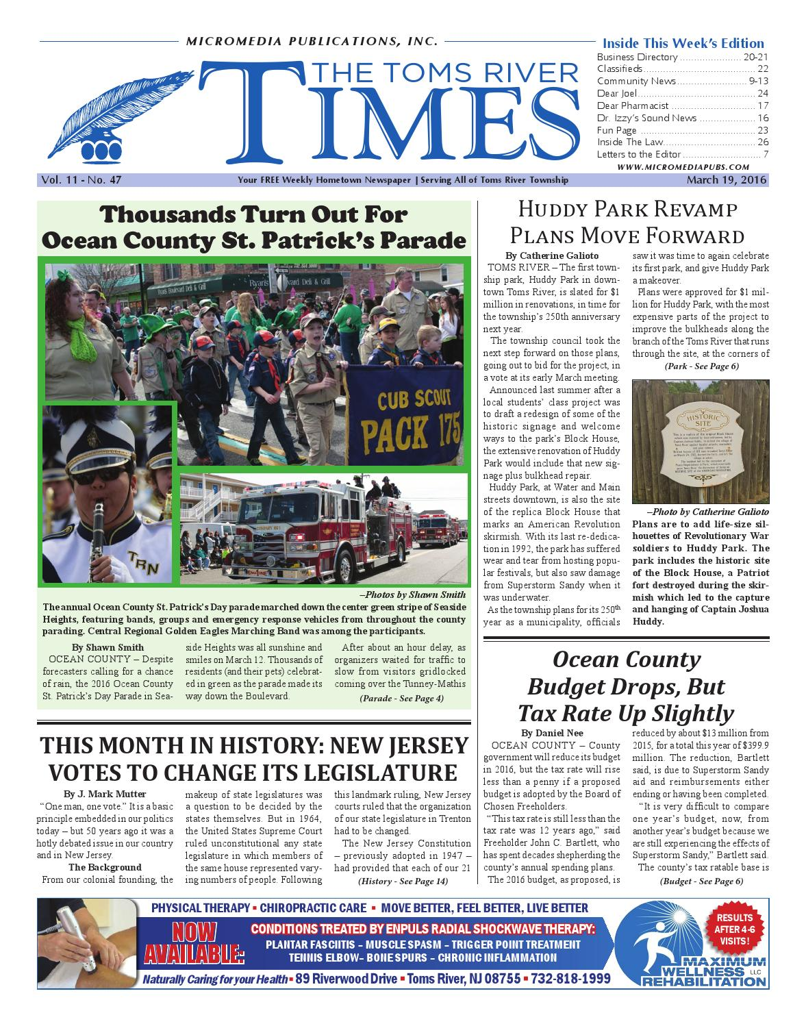 fdc7a4e369d9 2016-03-19 - The Toms River Times by Micromedia Publications Jersey ...