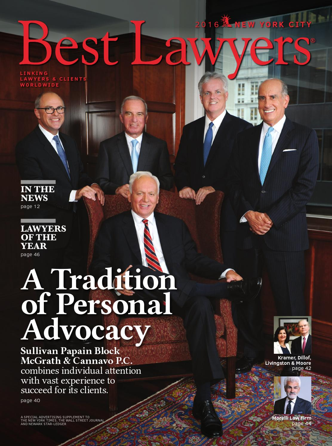 Best Lawyers In New York City 2016 By Best Lawyers Issuu