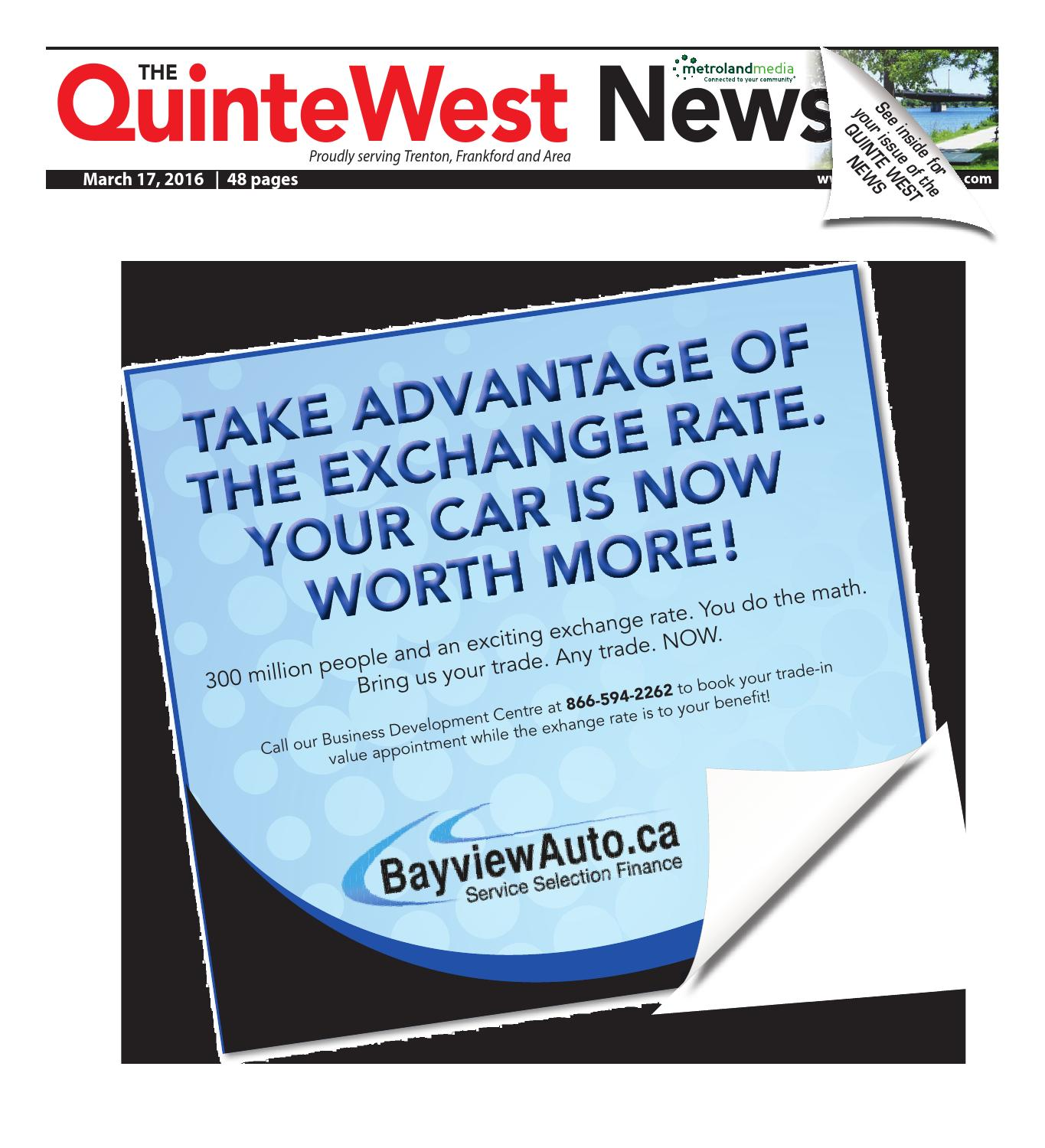 Qunite031716 by Metroland East - Quinte West News - issuu