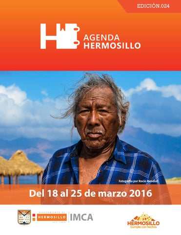 "Cover of ""Agenda Hermosillo del 18 al 25 de marzo"""