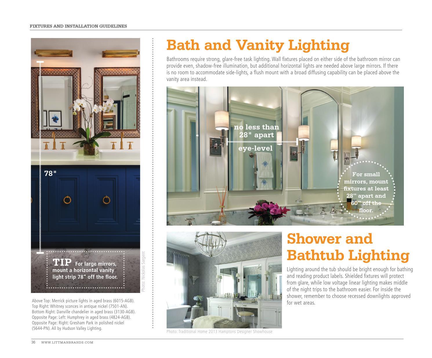The Lighting Lookbook 2016 - Bath Lighting by Littman Brands - issuu
