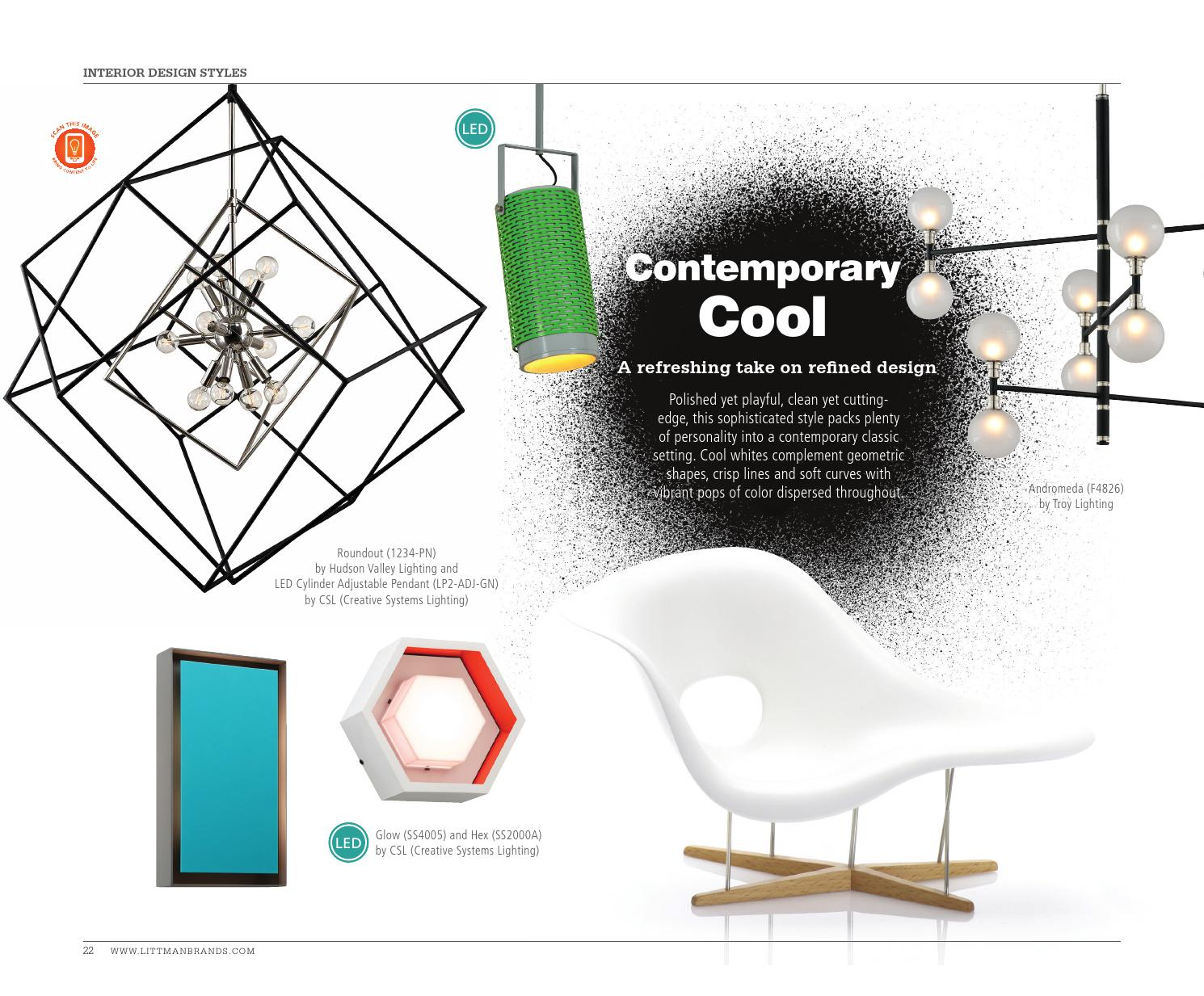 The Lighting Lookbook   Contemporary Cool By Littman Brands   Issuu