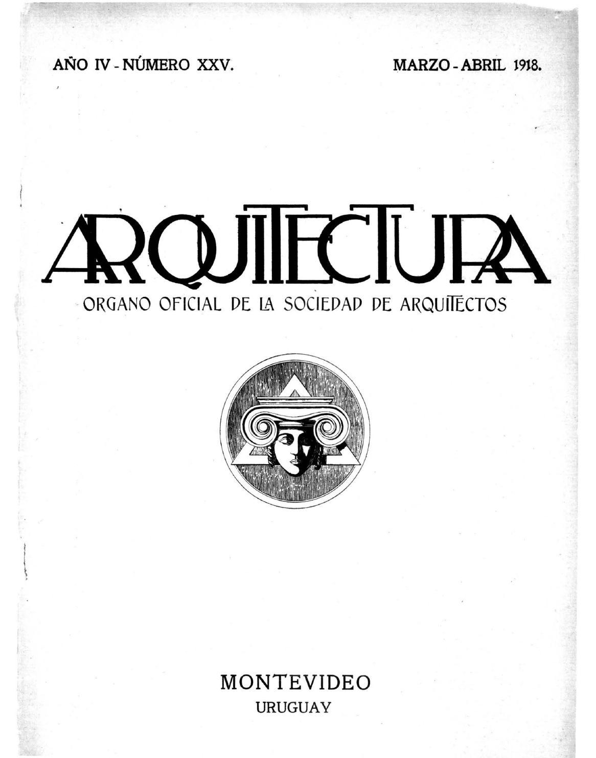 Arquitectura 25 1918 by sociedad de arquitectos del - Sociedad de arquitectos ...
