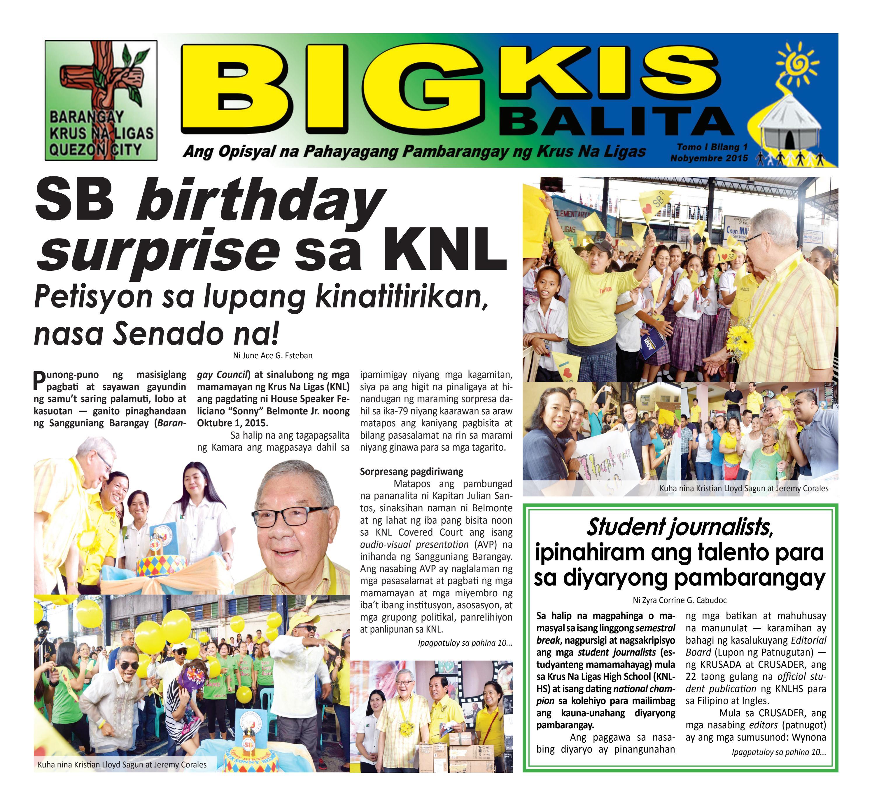 Bigkis-Balita (Tomo I Bilang 1) by KNLHS Crusaders - issuu