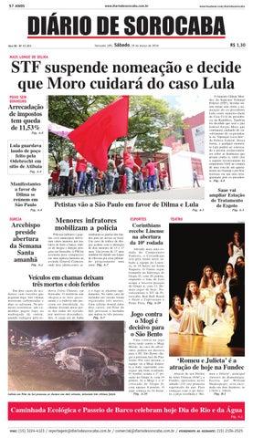 Edição de 19 de março de 2016 by DIÁRIO DE SOROCABA - issuu 604832460ae20