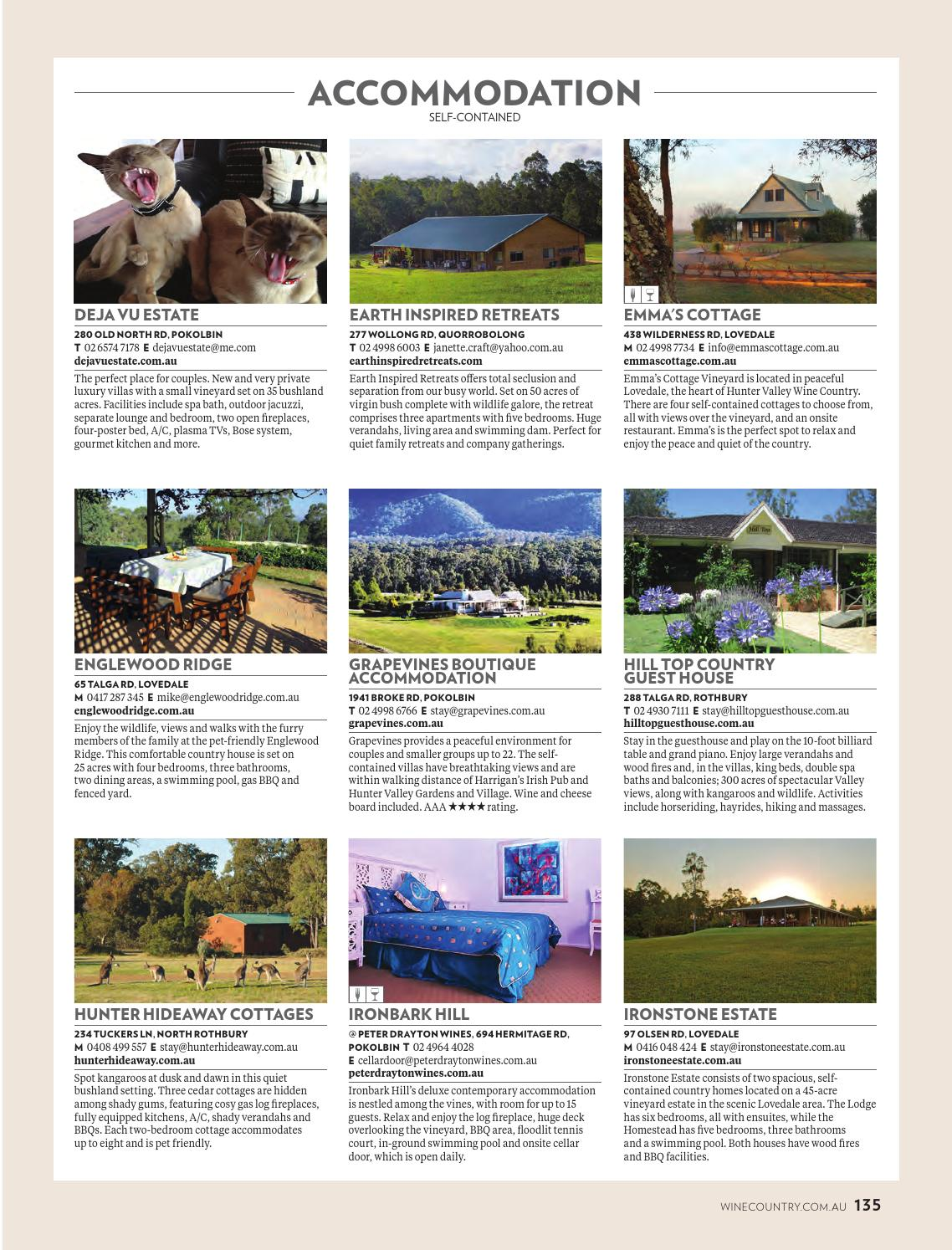 The Country House Company hunter valley magazine issue 6, 2016 by hunter valley wine
