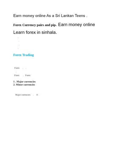 Forex trading course sri lanka