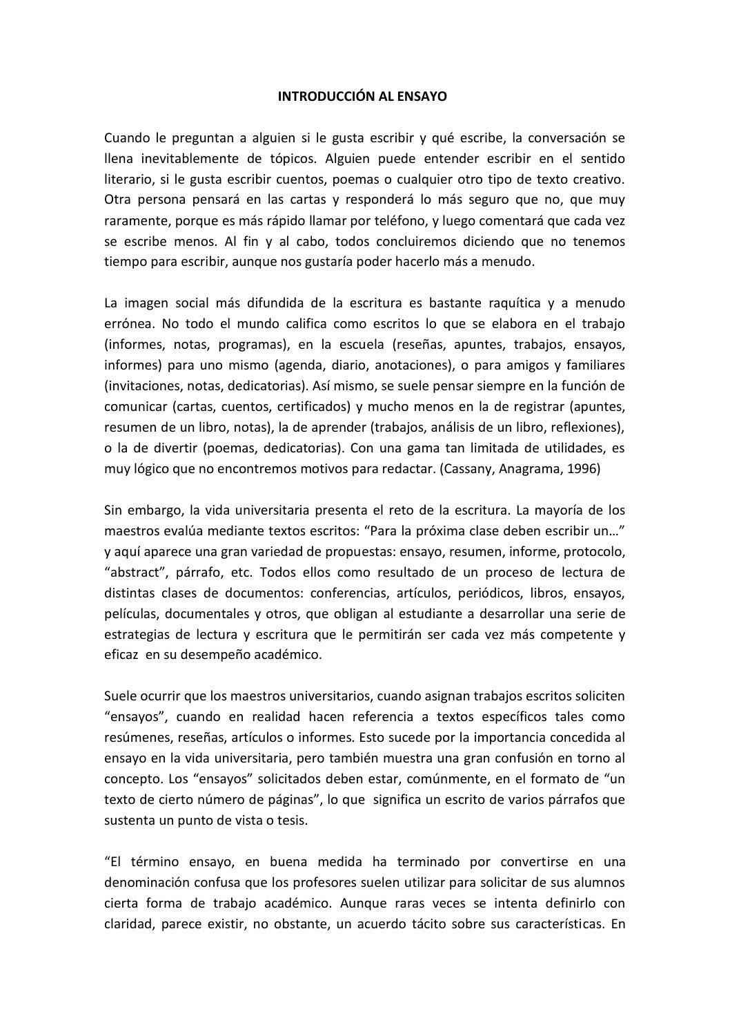 Como escribir un ensayo argumentativo by elena bocel xoch - issuu