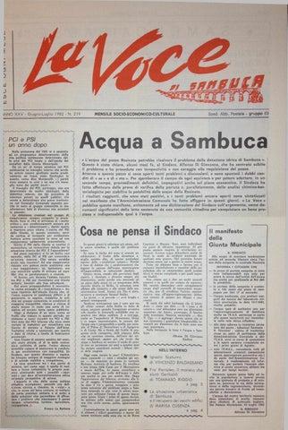 N 219 giugno luglio 1982 by la voce di sambuca issuu for Meuble yverdon