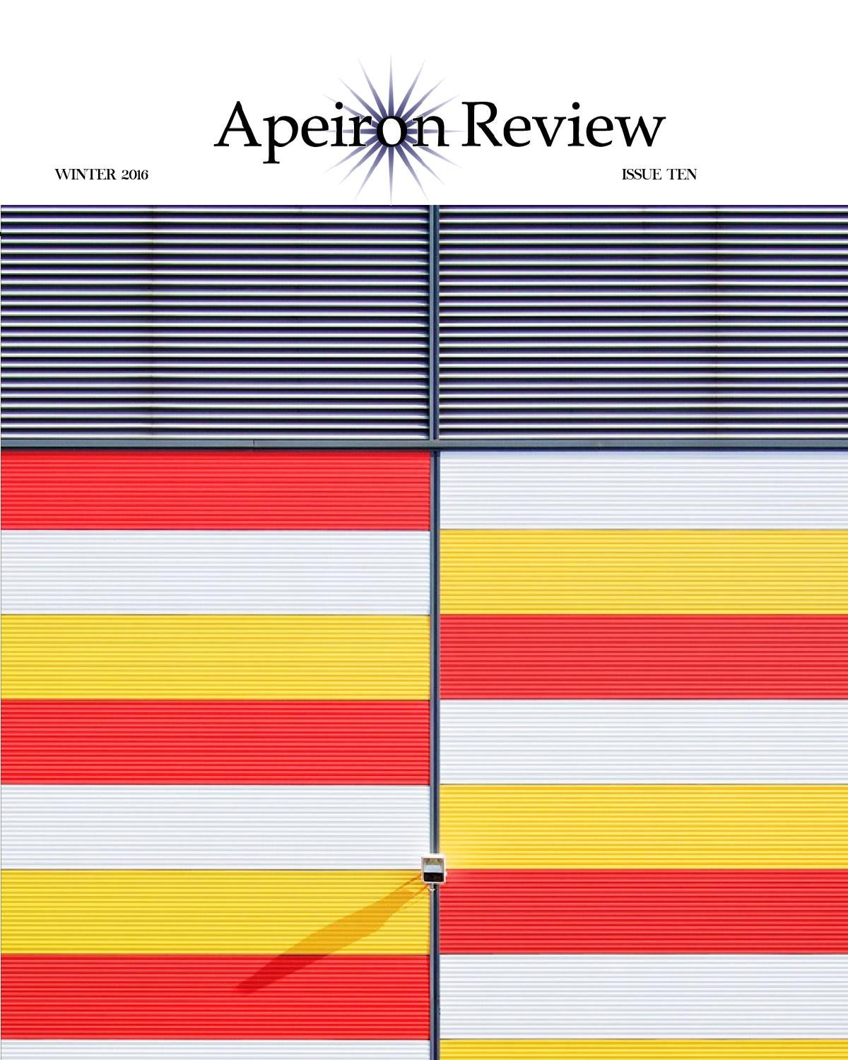 Apeiron Review | Winter 2016 by Apeiron Review - issuu