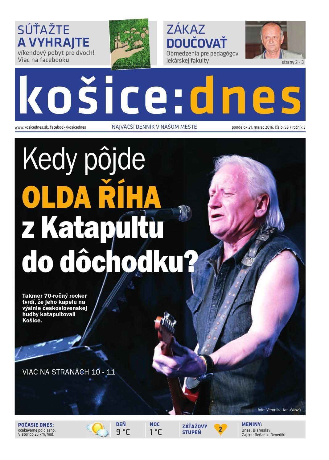 78f7922a29 košice dnes 21.3. 2016 by KOŠICE DNES - issuu
