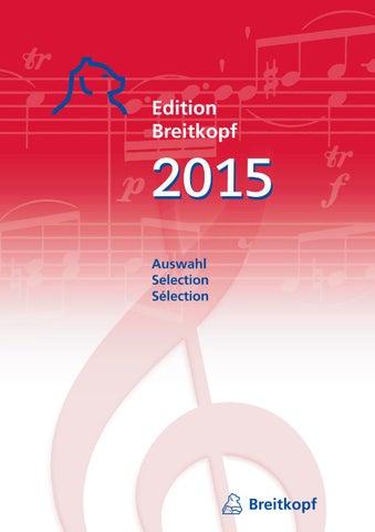 Edition Breitkopf 2015 By Breitkopf Hartel Issuu