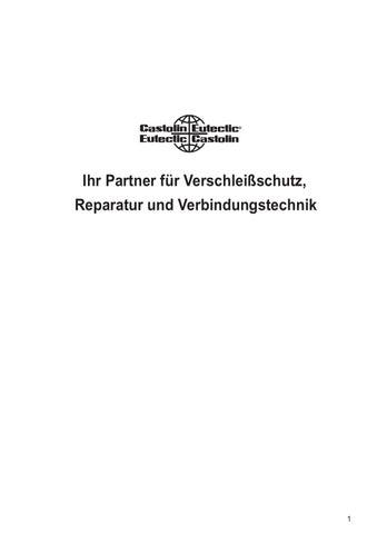 Anwendungshandbuch by Castolin Eutectic - issuu