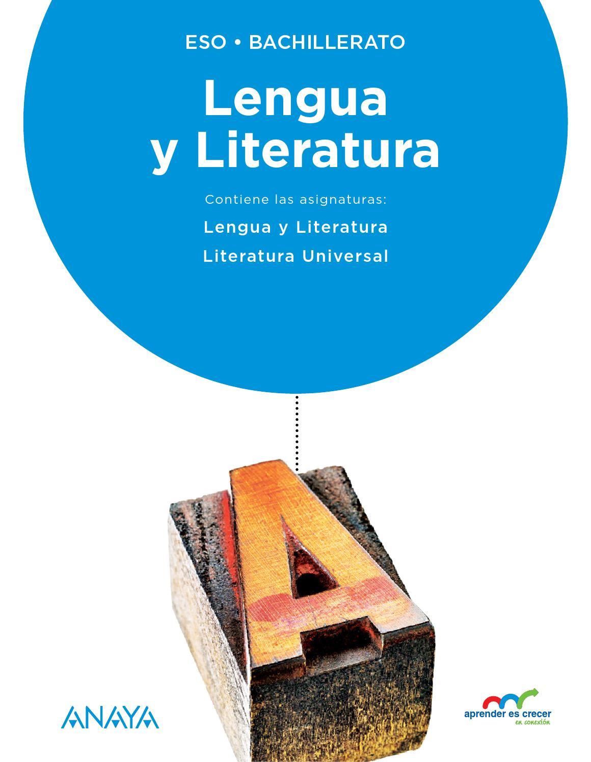 Aprender Es Crecer En Conexi U00d3n  Lengua Y Literatura By Grupo Anaya  S A
