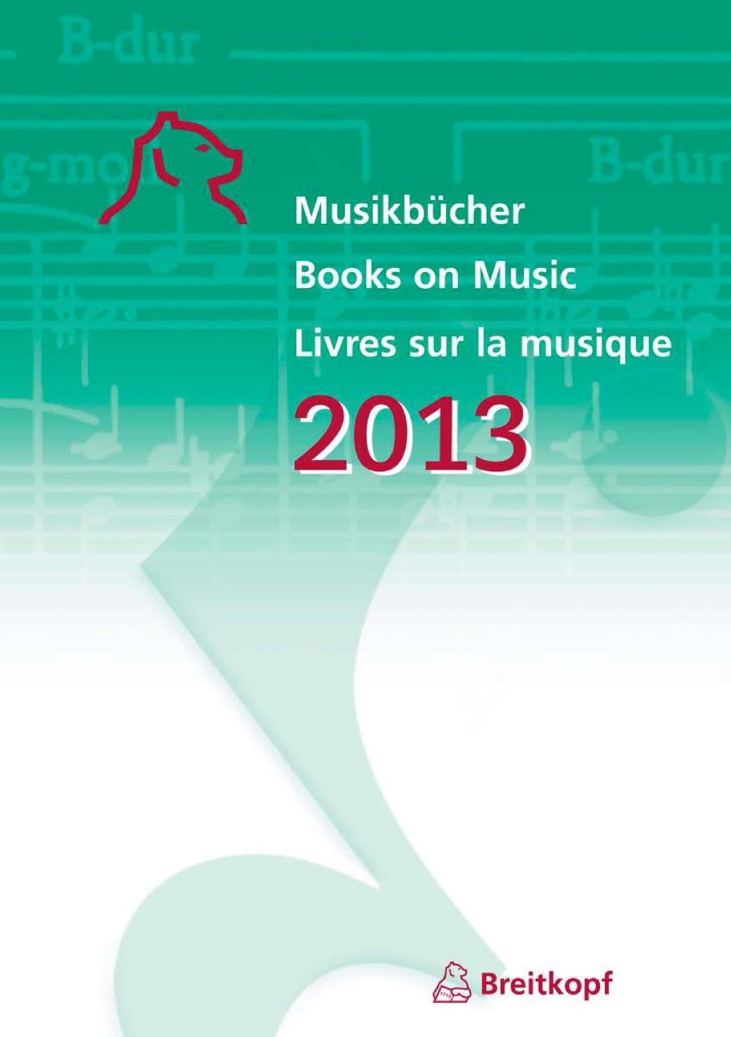 Musikbücher 2013 by Breitkopf & Härtel - issuu