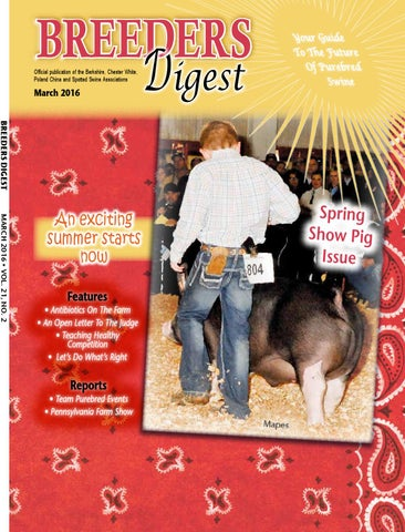 March 2016 Breeders Digest by Encore Visions - issuu 253661f5285c