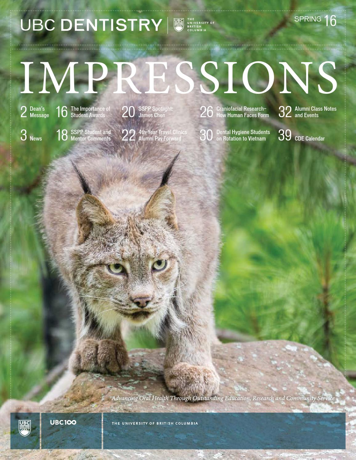 ubc dentistry impressions spring 2016 by faculty of dentistry