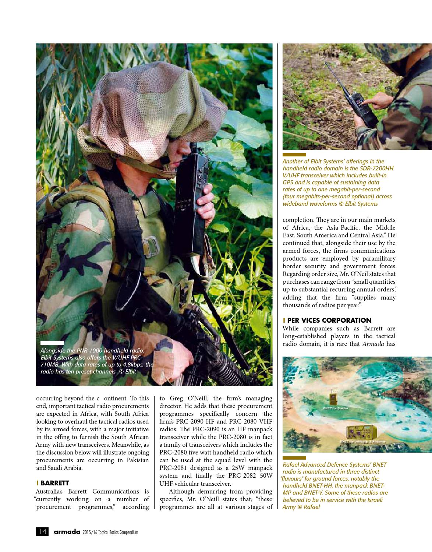Tactical Radios Compendium 2015 by Armada International