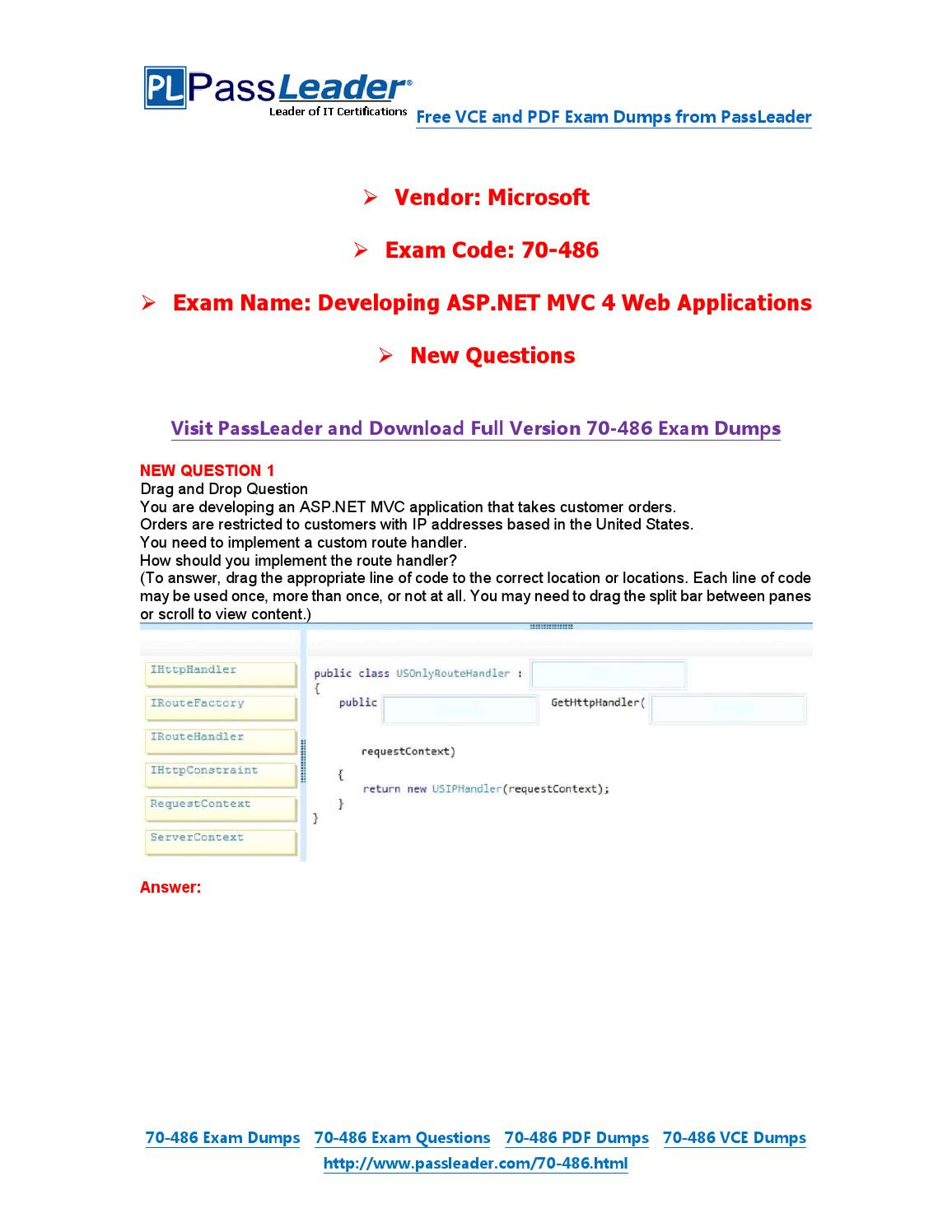 Feb 2016 new 70 486 exam dumps for free vce and pdf by exam feb 2016 new 70 486 exam dumps for free vce and pdf by exam dumps issuu xflitez Image collections