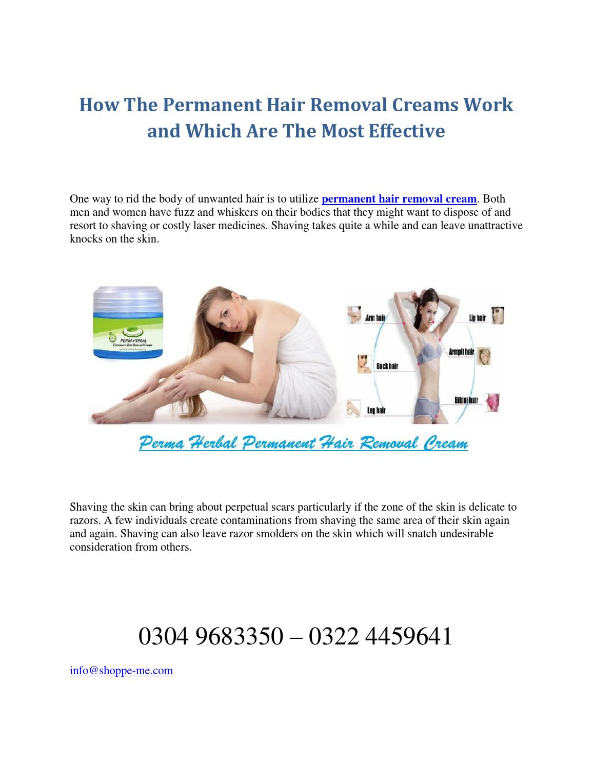 Permanent Hair Removal Cream In Pakistan By Shoppe Me Issuu