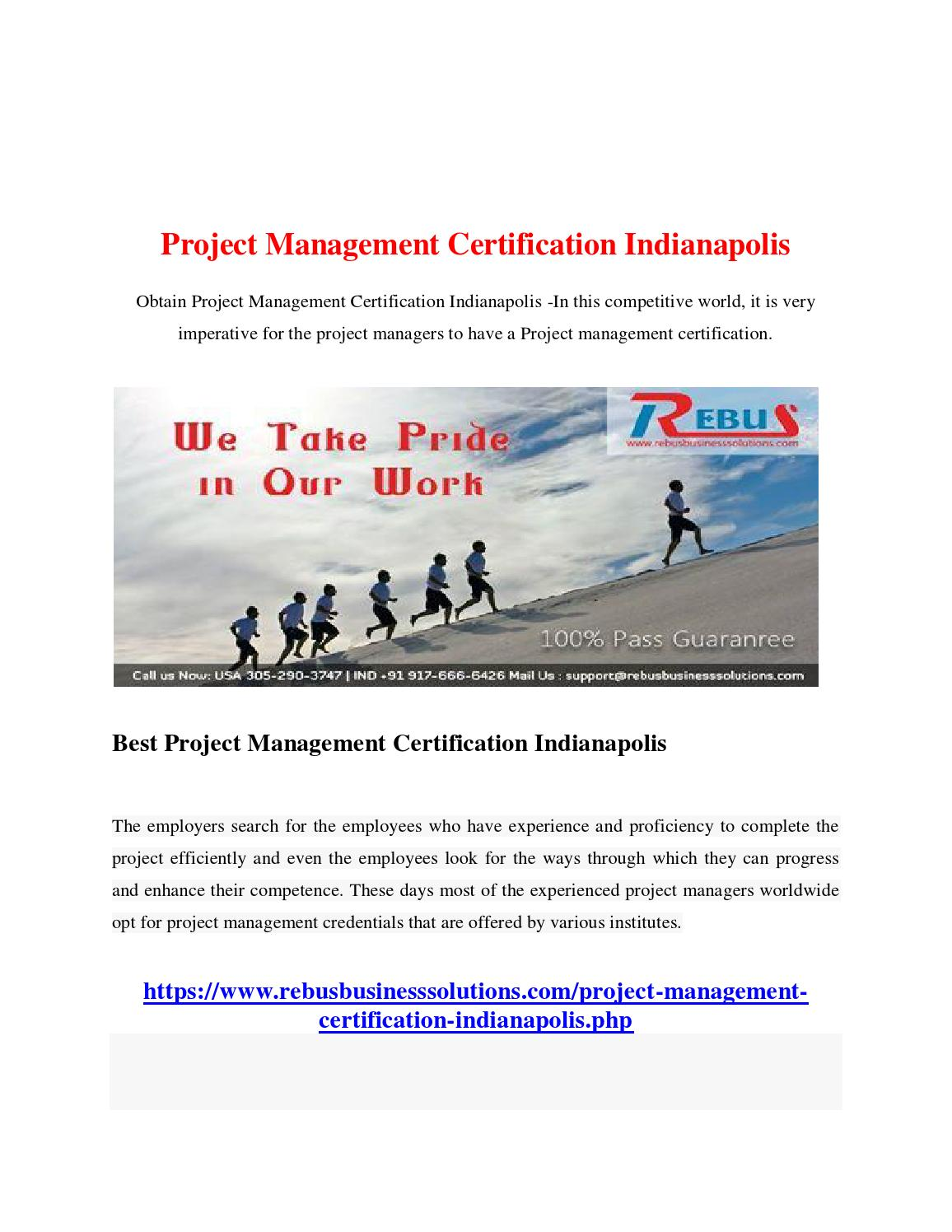 Project management certification indianapolis by sekarse01 issuu xflitez Image collections