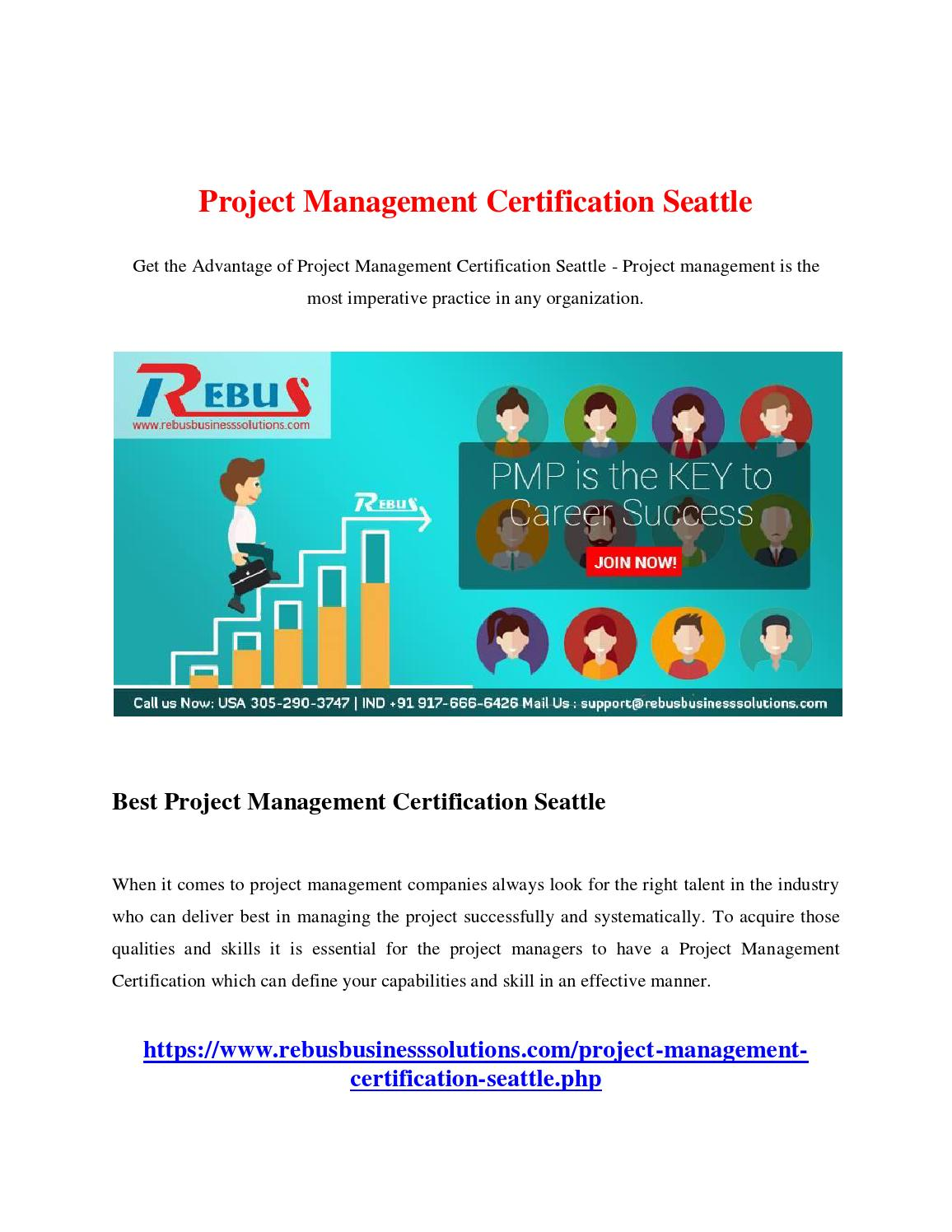 Project Management Certification Seattle By Sekarse01 Issuu
