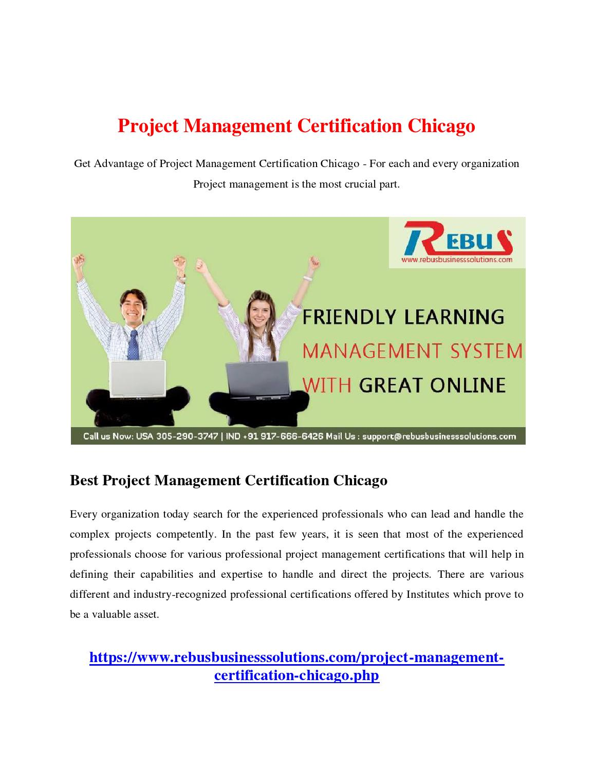 Project Management Certification Chicago By Sekarse01 Issuu