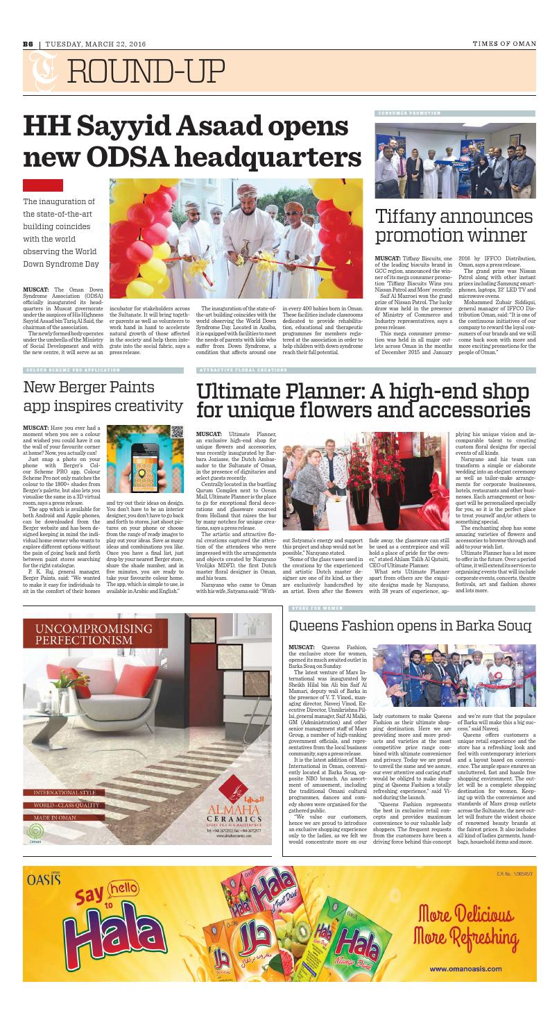 Times of Oman - March 22, 2016 by Muscat Media Group - issuu