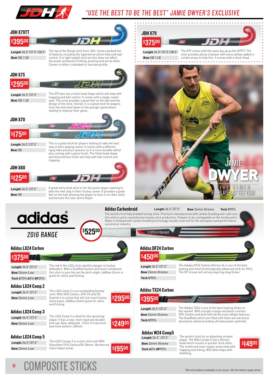 adidas hockey 2016 range