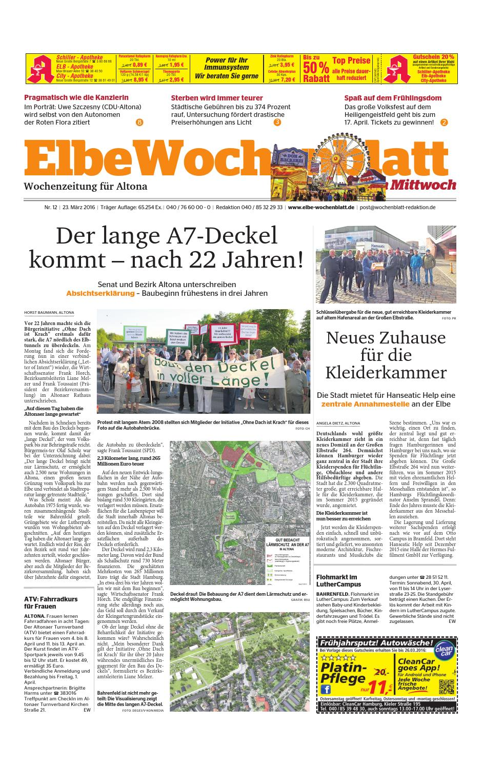 Altona KW12-2016 by Elbe Wochenblatt Verlagsgesellschaft mbH & Co.KG - issuu
