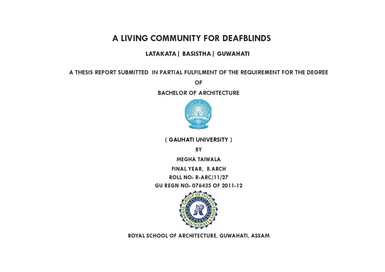 Dissertation reports