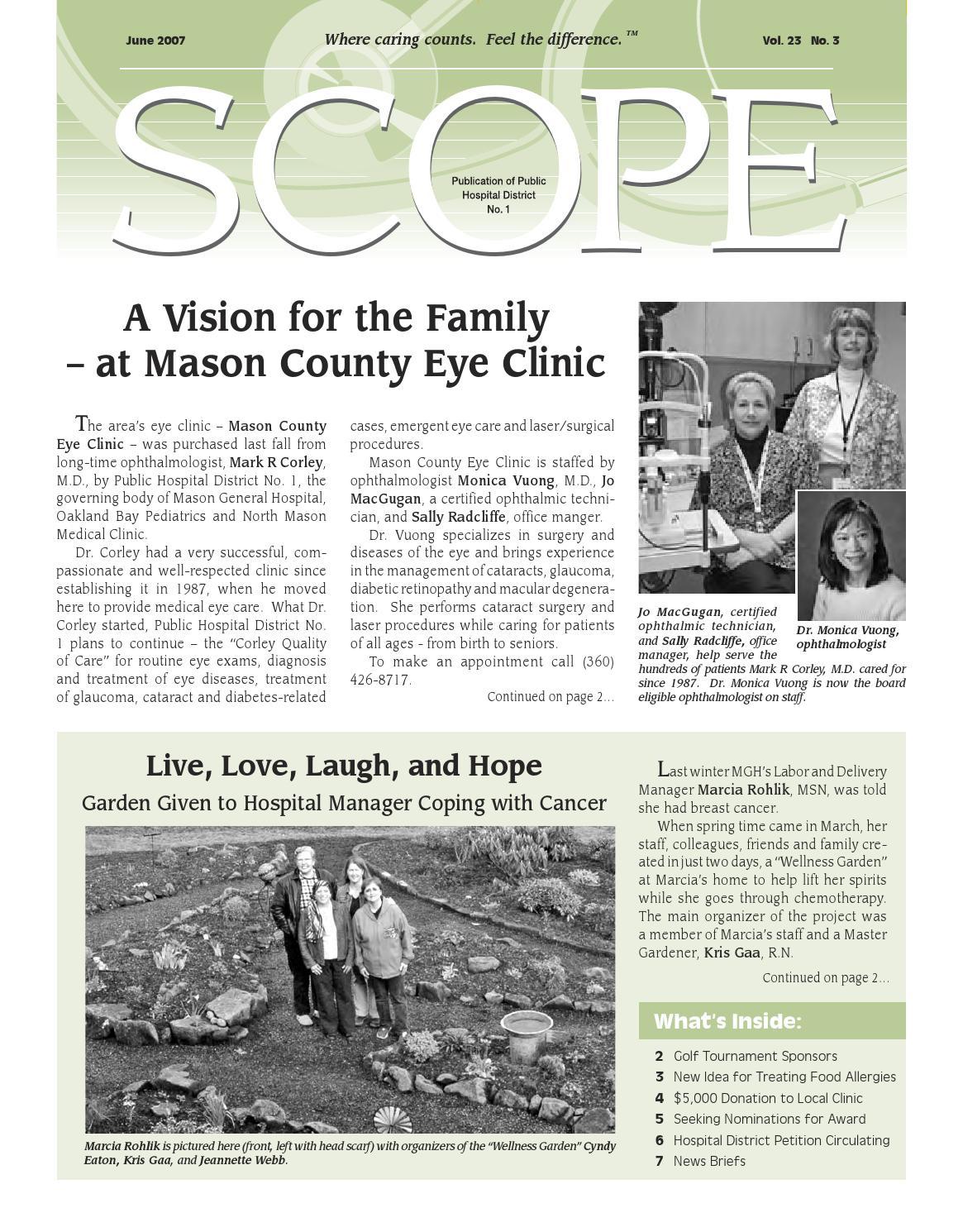 SCOPE Magazine June 2007 by Mason General Hospital & Family