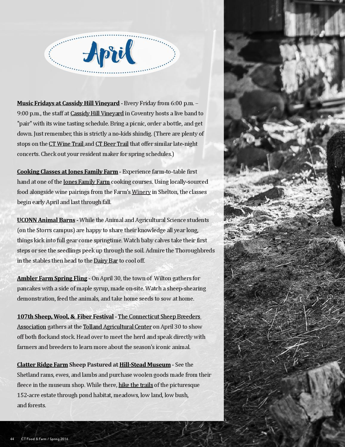 Connecticut Food & Farm, Spring 2016, Issue 4 by Connecticut