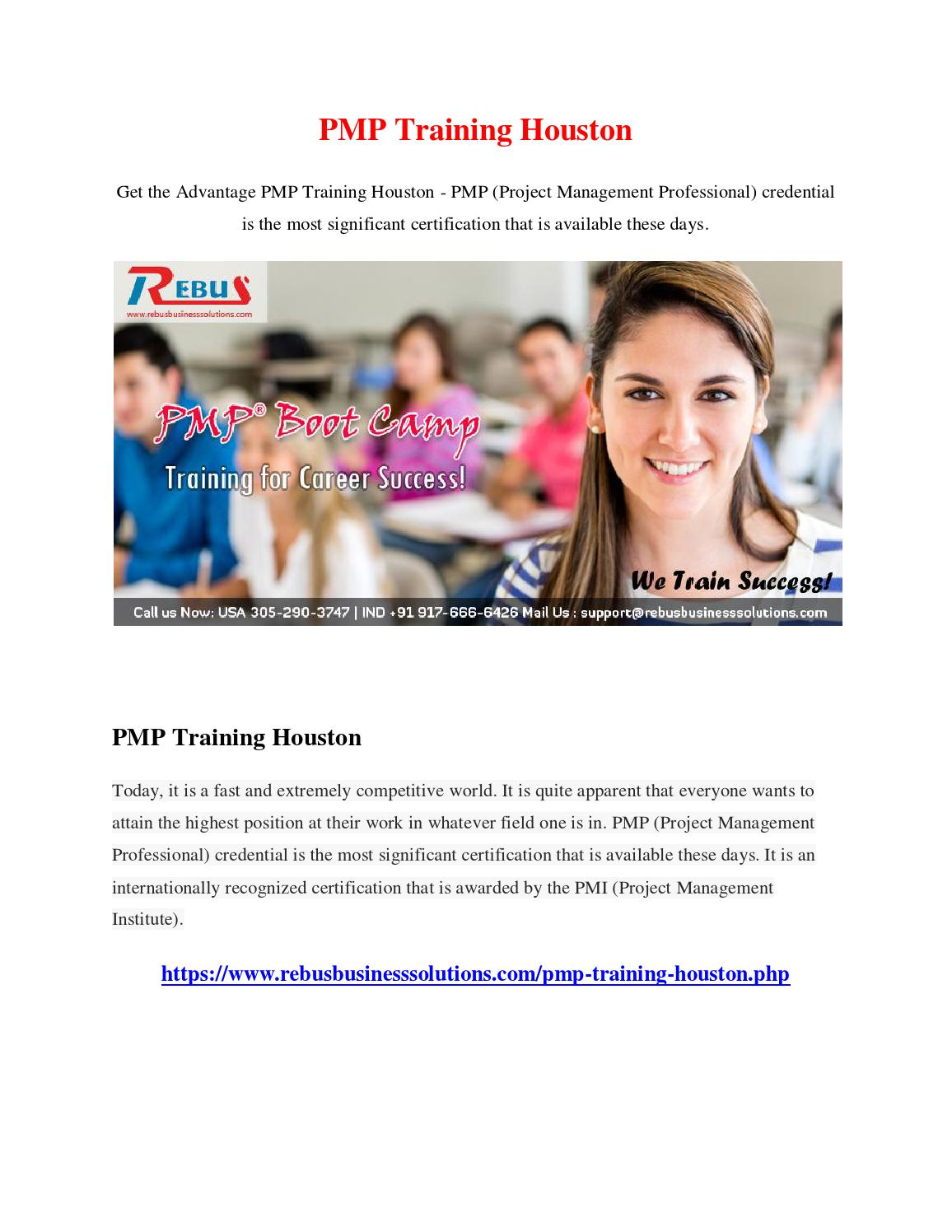Pmp Training Houston By Aaraadhak Issuu