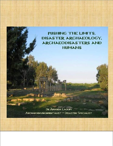 newest 3a0a9 1ced9 ARCHAEODISASTERS AND SOCIETIES. WHAT REALLY IS DISASTER ARCHAEOLOGY by  Amanda Laoupi - issuu
