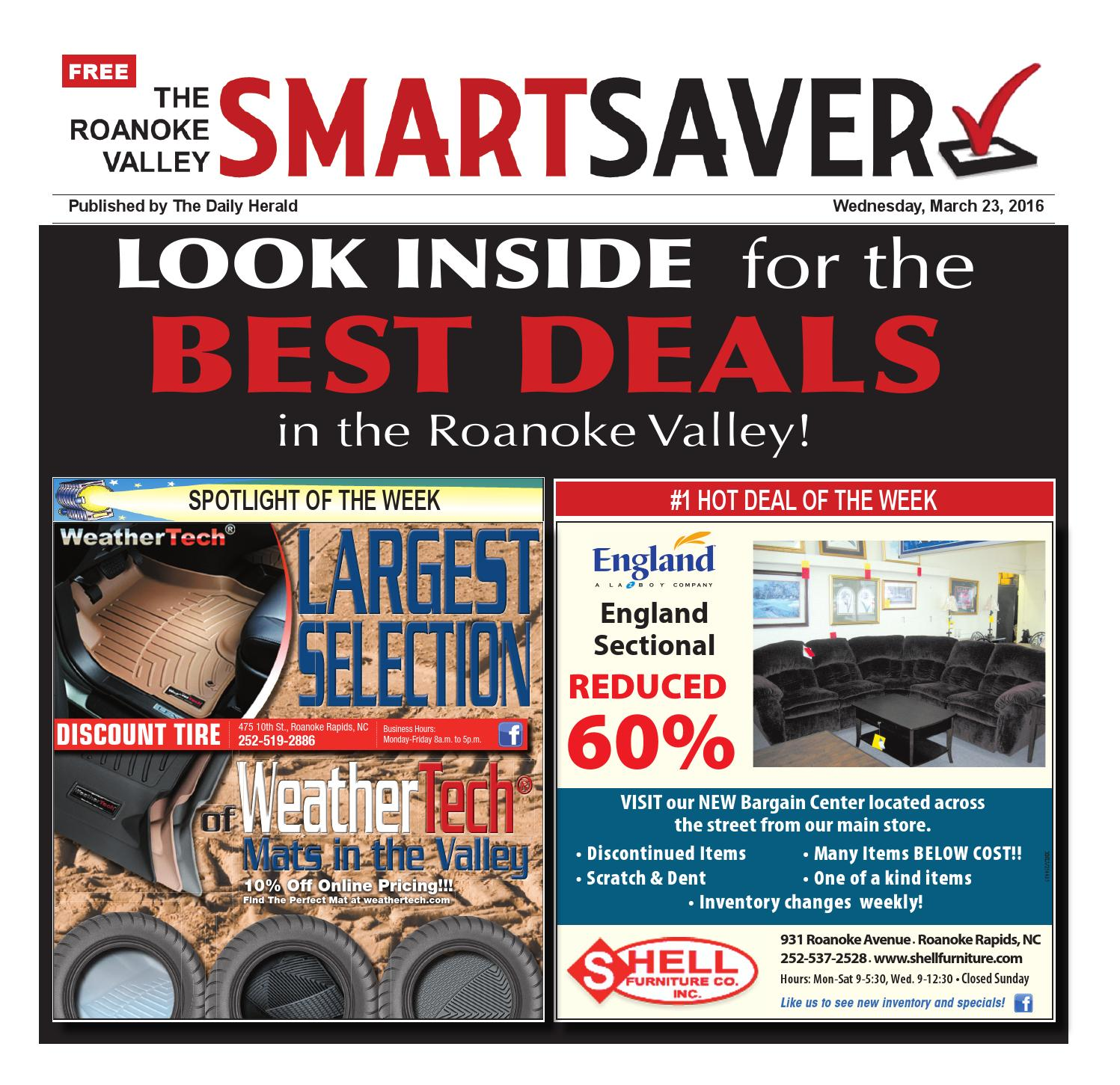 Discount Tire Hours Sunday >> Smartsaver 3 23 16 By Wick Communications Issuu