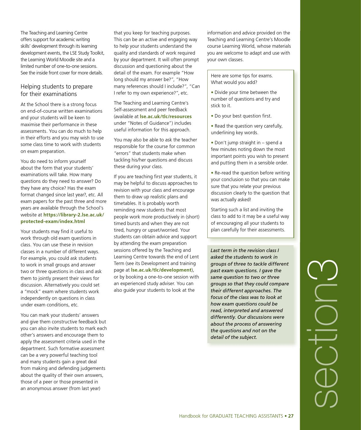 LSE TLC GTA handbook 2015/16 by London School of Economics - issuu
