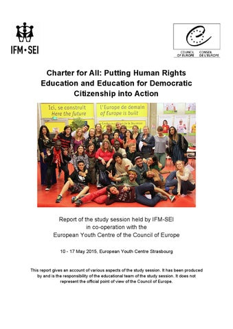Charter for All: Study session report IFM-SEI 2015 by IFM