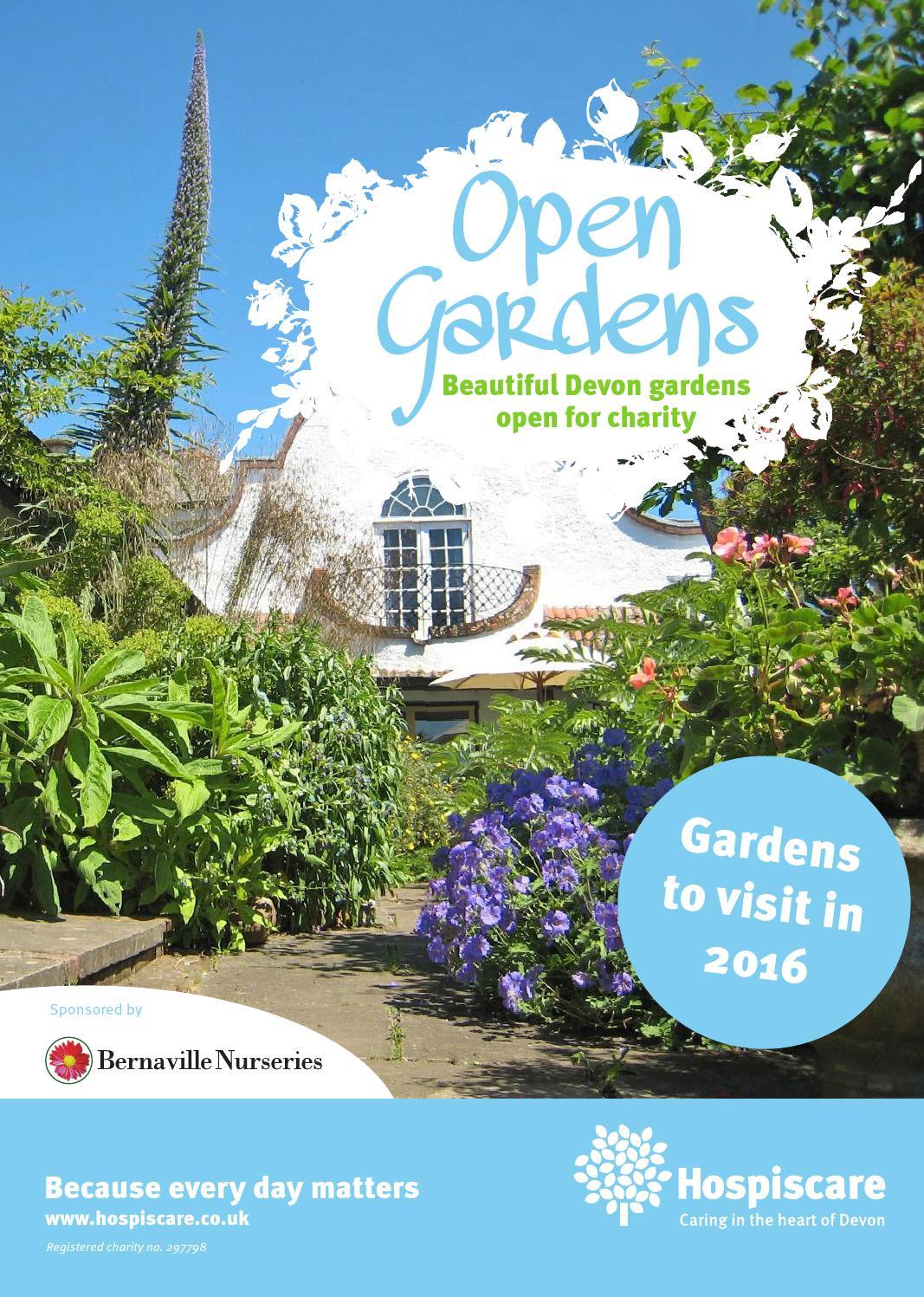 open gardens 2016 leaflet by hospiscare issuu