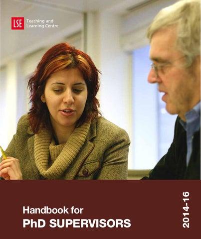 LSE TLC PhD Supervisors handbook 2014 16 final by London School of